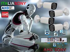 KIT VIDEOSORVEGLIANZA AHD DVR 4 Canali + 4 Telecamere Sony AHD 720P + Aliment.
