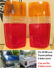 84 85 86 87 TOYOTA PICK UP HILUX TRUCK 4RUNNER 2WD 4WD TAIL LIGHT LENS FREE SHIP