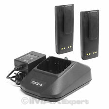 2+1 NTN7143 NTN7144 Battery Charger Set for MOTOROLA GP900 HT1000 MTS2000 MT2000