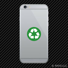 Green Trash Recycle Sign Cell Phone Sticker Mobile Die Cut environmental
