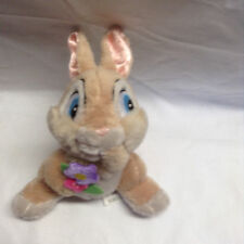 "Disney Baby G Bunny Bean Bag Plush w Flower 5.5"" Tall Vintage CUTE Bambi"