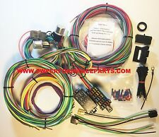 NEW 21 Circuit EZ Wiring Harness MINI Fuse CHEVY FORD Hotrods UNIVERSAL XL Wires