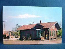 Postcard KS Wichita Cow Town Railroad Depot