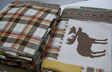 Cuddl Duds Heavyweight Patchwork Lodge Moose Plaid Flannel Queen Sheet Set New