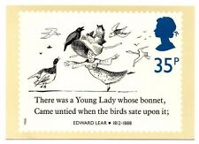 Edward Lear - There Was a Young Lady - Post Office Picture Postcard