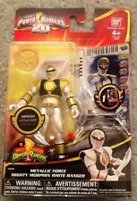MIGHTY MORPHIN POWER RANGERS METALLIC WHITE RANGER SENTAI,POPY,BANDAI