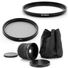 55mm Super Fish Eye 0.18x lens, CPL Filter for PANASONIC LUMIX DMC-FZ50 DMC-FZ30