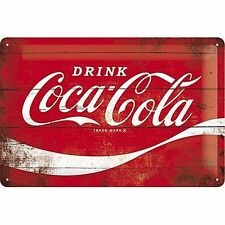Coca Cola,Drink Logo Erfrischung,Retro Holz-effekt,Medium 3D Metall