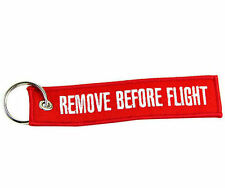 Durable Remove Before Flight Tag Zipper Pull Keyring Embroidery Keychain