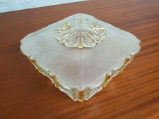Vintage Antique Art deco French Lalique style glass ceiling Shade/Pendant.