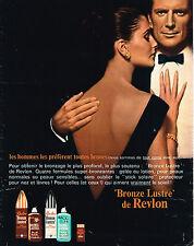 PUBLICITE ADVERTISING 104  1966   REVLON   cosmétiques solaires