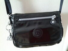 KIPLING NEW CROSSBODY TRAVEL BAG LIGHTWEIGHT BLACK PATENT SMALL MESSENGER