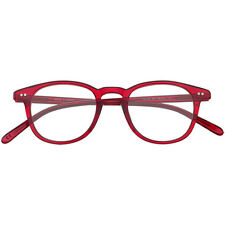 Brillen retro Epos Zeus  46 22 150 RO  red + Hoya lens clear new
