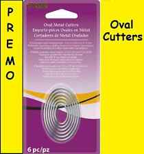 Metal CLAY CUTTERS Graduated OVAL 6pc Set Premo SCULPEY