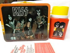 1977 KISS Lunchbox & Thermos, Original, Unused, NRMT-MT, Glossy, Super Clean