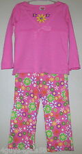 Toddler Girls Outfit TWO PIECE Fisher Price PINK FLOWER 24 Mo Pants Shirt
