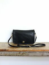 Vintage Coach Bag Black Leather Penny 9755 Handbag Crossbody Pocket Purse