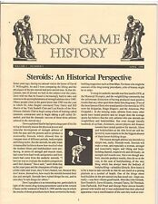 Iron Game History Bodybuilding Muscle Magazine/Steroids 4-90 vol 1#2
