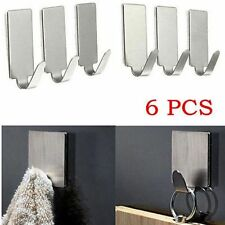 Adhesive Kitchen Wall Door Stainless Steel Stick NEW Holder Hook Hanger