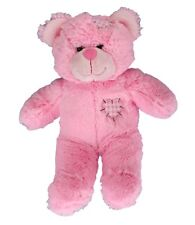 "Pink Patches Bear 16"" (40cm) by Teddy Mountain includes adopt cert & heart"