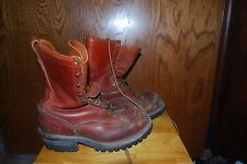 Wesco Mens 8E  Vibram Sole Lineman Logger BOOTS Smoke Jumper Bikers HD Work