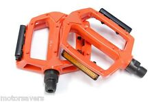 ORANGE Wellgo Metal BMX / ATB / FIXIE Pedals - 9/16 (3 Piece Crank)