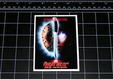 Friday the 13th Part 7 movie decal sticker Jason Vorhees Crystal Lake 80s horror