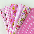 "6 Assorted Rose Pink Pre Cut Charm 10"" Squares Quilt Cotton Fabric F412"