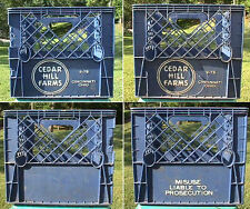 CEDAR HILL FARMS - CINCINNATI OHIO 2-75 HEAVY DUTY PLASTIC MILK BOTTLE CRATE