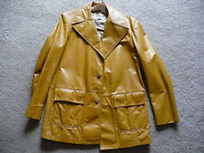 Vintage Mens Leather Jacket Great Gift 44 Long XL Long
