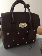 New Authentic Mulberry Mini Cara Delevingne Oxblood Bag Lion Hearts Rivets
