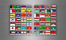 Planche autocollant sticker drapeau pays rangement classement timbre asie txt