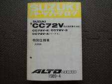 JDM SUZUKI ALTO CC72V Original Genuine Parts List Catalog Japanese Kei Car