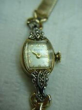 VINTAGE BULOVA 23 LADIES WRISTWATCH WITH 5AD MVMT. FANCY WATCH WITH MESH BAND