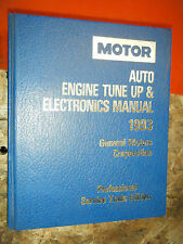 1990-93 MOTOR AUTO TUNE UP ELECTRONICS SERVICE MANUAL CADILLAC CHEVY BUICK OLDS