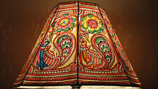 Bird Floor Lamp shade / Hand Painted Lamps / Floral Leather Lamp shade