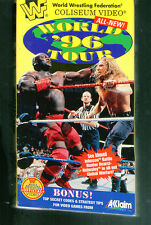 I VERY RARE WWF VHS tape  World Tour 96    Stone Cold Steve Austin , Owen Hart