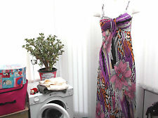 """kookpoi"" ladies  flowered long dress sz 10/12"