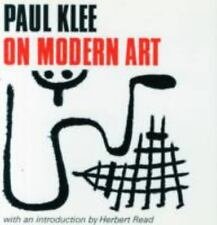 Faber Paper-Covered Editions: Paul Klee on Modern Art by Paul Klee (1966,...