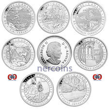 Canada 2012-2013 Group of Seven Canadian Art $20 Pure Silver Coin Full Set of 7