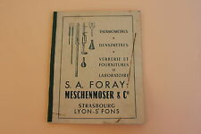 Ancien catalogue Foray Meschenmoser strasbourg thermometre verrerie laboratoire