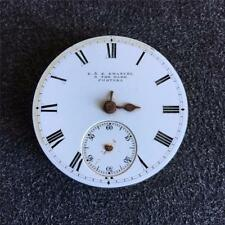 VINTAGE 41MM E&E EMANUEL HUNTING CASE POCKET WATCH MOVEMENT