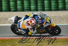 Dominique Aegerter Hand Signed 12x8 Photo Interwetten Kalex 2016 Moto2 MOTOGP 1.