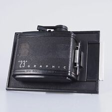 "`Graflex 120 Roll Film 4x5 ""23"" Graphic Film Back Holder"