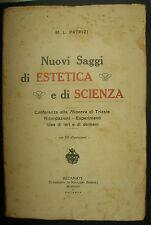 LIBRO ANTICO-NUOVI SAGGI DI ESTETICA E DI SCIENZA-ILLUSTRATO-ANNO 1928