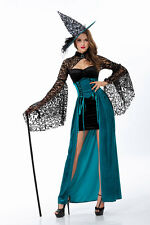 Woman Sexy Witch Costume Dress Magician Cosplay Long Dress Game Suit Party Club