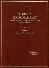 Modern Criminal Law: Cases, Comments And Questions