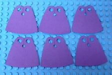 6x CUSTOM Capes For LEGO Minifig - Standard Cape Body Wear Purple