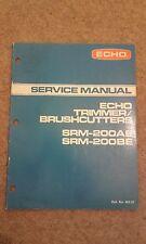 Manual de servicio de Eco Trimmer/Desbrozadora srm-200ae/200be