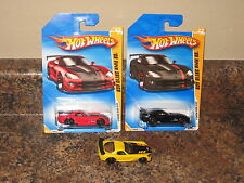 Hot Wheels Lot of 3 2008 Dodge Viper SRT10 ACR Variation Red Black Yellow '08